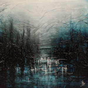 """""""Stillness and River Water,"""" by Laura Harris 24 x 24 - acrylic $2700 (thick canvas wrap)"""