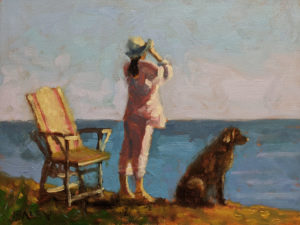 "SOLD ""Waiting,"" by Paul Healey 9 x 12 - oil $525 Unframed"