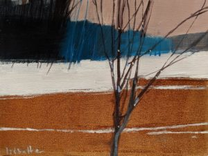 """Winter Field,"" by David Lidbetter 6 x 8 - oil $600 (unframed panel with thick edges)"