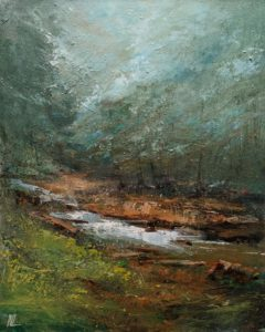 """SOLD """"Hollow Mountain,"""" by William Liao 16 x 20 - acrylic $1235 Unframed"""