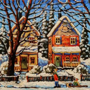 """SOLD """"In the Fresh Air,"""" by Rod Charlesworth 12 x 12 - oil $1200 Unframed"""