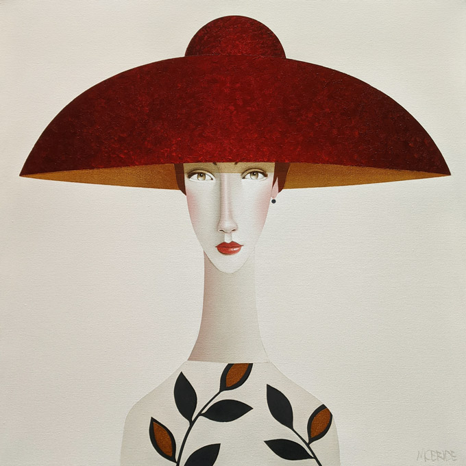 """Shauna,"" by Danny McBride 24 x 24 - acrylic $2600 (thick canvas wrap)"