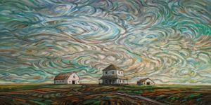 """SOLD """"Time Drift,"""" by Steve Coffey 20 x 40 - oil $2820 (thick canvas wrap)"""
