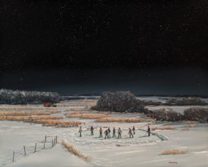 """""""We know where all the boys are,"""" by Peter Shostak 24 x 30 - oil $5320 Unframed"""