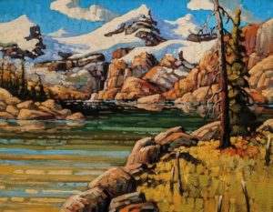 """""""Glacial Waters, Cariboos,"""" by Rod Charlesworth 14 x 18 - oil $1570 Unframed"""
