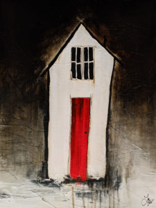 """""""Heart and Home,"""" by Laura Harris 18 x 24 - acrylic $2200 (thick canvas wrap)"""