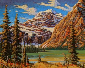"""SOLD """"Mt. Edith Cavell,"""" by Rod Charlesworth 24 x 30 - oil $2890 Unframed"""