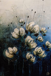 """""""The Smell of Fresh, Spring Rain,"""" by Laura Harris 24 x 36 - acrylic $3300 (thick canvas wrap)"""