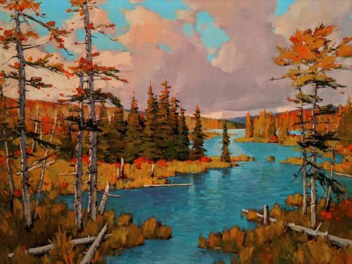 """""""Autumn is Coming,"""" by Min Ma 36 x 48 - acrylic $7440 Unframed"""