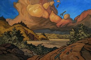 """""""Blooming Sky,"""" by Phil Buytendorp 24 x 36 – oil $3130 Unframed"""