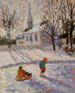 """SOLD """"Late Afternoon,"""" by Paul Healey 8 x 10 - oil $450 Unframed"""