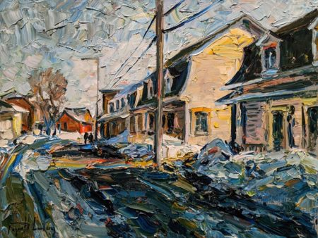 """Rue de Baie-Saint-Paul, Charlevoix,"" by Raynald Leclerc 18 x 24 - oil $2300 Unframed"
