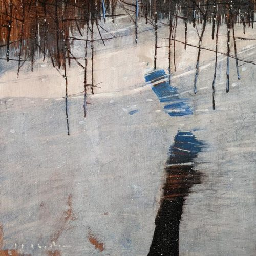 """""""Sorrow,"""" by David Lidbetter 12 x 12 - oil $1160 (unframed panel with 1 1/2"""" edges)"""