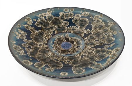 "Wall-hang plate (BB-4668) by Bill Boyd ceramic - 19"" (W) $1050"