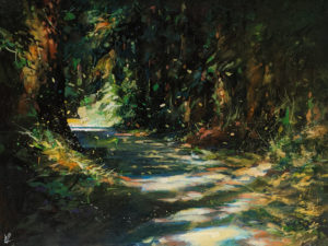 """""""Deep Forest 4,"""" by William Liao 18 x 24 - acrylic $1650 (thick canvas wrap)"""