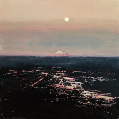 """""""Distant Calling,"""" by William Liao 36 x 36 - acrylic $4300 (thick canvas wrap)"""