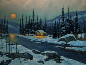"""""""Early Winter's Eve,"""" by Graeme Shaw 36 x 48 - oil $5000 (thick canvas wrap)"""