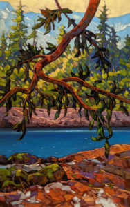 """""""Summer Dancers,"""" by Graeme Shaw 30 x 48 - oil $4590 (artwork continues onto edges of wide canvas wrap)"""