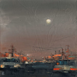 """SOLD """"Summer Night Breeze,"""" by William Liao 10 x 10 - oil $495 (thick canvas wrap)"""
