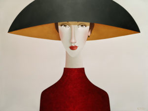 """SOLD """"Candace,"""" by Danny McBride 30 x 40 - acrylic $4100 (thick canvas wrap)"""