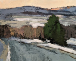 """""""Chemin vers Ste-Anne,"""" by Robert P. Roy (Road to Ste-Anne) 24 x 30 - acrylic $1600 Unframed"""