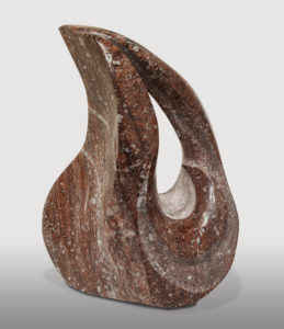 """""""The Flame,"""" by Herb Latreille 13"""" (H) - Raspberry alabaster $2100"""