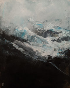 """SOLD """"Misty Mountain,"""" by William Liao 16 x 20 - acrylic $1235 (thick canvas wrap)"""