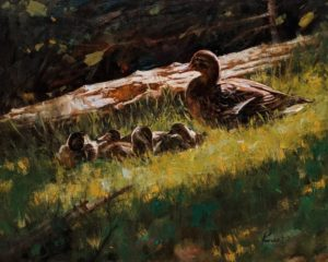 """SOLD """"Nap Time,"""" by Clement Kwan 16 x 20 - oil $3400 Unframed"""