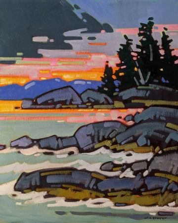 """""""Incoming Tide at Tofino, B.C."""" by Cameron Bird 24 x 30 - oil $2990 Unframed"""