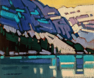 """SOLD """"Lake Louise Blues,"""" by Cameron Bird 10 x 12 - oil $900 Unframed"""