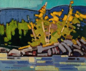 """SOLD """"Morning Gleam at Port Hardy (Study),"""" by Cameron Bird 10 x 12 - oil $900 Unframed"""