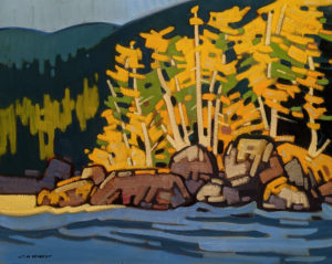 """SOLD """"Morning Gleam at Port Hardy, B.C."""" by Cameron Bird 24 x 30 - oil $2990 Unframed"""