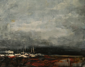 """""""Looming Cloud,"""" by William Liao 11 x 14 - acrylic $680 Unframed"""
