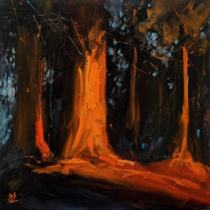 """""""Resonate,"""" by William Liao 12 x 12 - oil $635 (thick canvas wrap)"""
