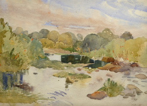 SOLD Untitled by Toni Onley (1947) 11 x 15 - watercolour