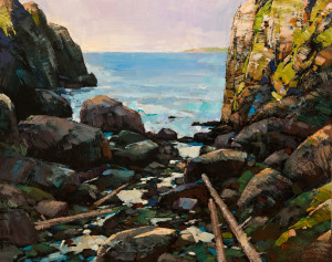 "SOLD ""Coast Morning,"" by Min Ma 11 x 14 – acrylic $1200 Unframed"