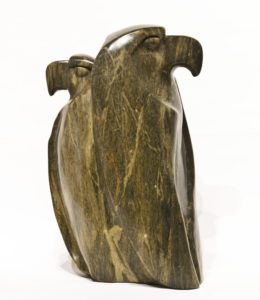 """SOLD """"The Guardian,"""" by Marilyn Armitage 15"""" (H) - Soapstone $1950"""