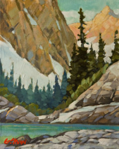 """SOLD """"Step Lake,"""" by Graeme Shaw 8 x 10 - oil $535 Unframed"""