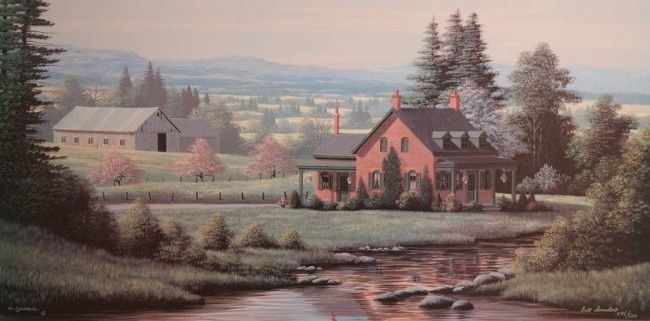 """""""Country Brook"""" 16 x 32 limited edition print $215 Unframed"""