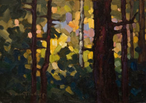 """""""In the Bushes,"""" by Phil Buytendorp 5 x 7 - oil $550 Unframed"""