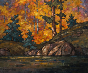 """SOLD """"Woodland Pool,"""" by Phil Buytendorp 20 x 24 - oil $2000 Unframed"""