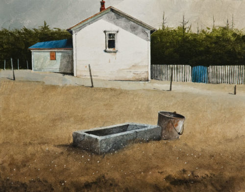 """Grain Trough,"" by Mark Fletcher 11 x 14 - acrylic $950 Unframed"