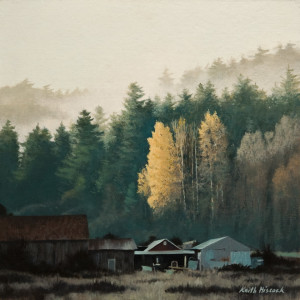 """""""Early Morning,"""" by Keith Hiscock 12 x 12 - oil $975 Unframed"""