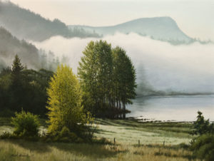 """SOLD """"Misty Spring Morning,"""" by Keith Hiscock 18 x 24 - oil $3200 Unframed"""