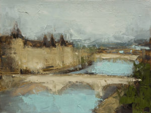 "SOLD ""Paris, Conciergerie No. 1,"" by Robert P. Roy 9 x 12 - oil $490 Unframed"