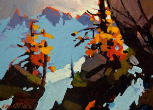 """SOLD """"Patterns of the Tantalus,"""" by Michael O'Toole 5 x 7 - acrylic"""
