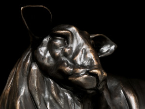 """""""A Beautiful Sheep,"""" by Nicola Prinsen 15 3/4"""" (H) x 18"""" (L) - bronze Edition of 20 $5900"""