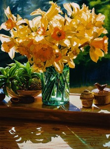 """""""Daffodils from the Garden,"""" by Carol Evans 12 5/8 x 17 - Giclée on paper (edition size of 195) - $285 Unframed"""