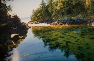"""""""Gentle Light of Dawn,"""" by Carol Evans 20 x 31 - Giclée on paper (edition size of 195) - $495 Unframed 28 x 43 - Giclée on canvas (edition size of 50) - $1200 Unframed"""