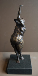 """""""The Scar,"""" by Michael Hermesh bronze sculpture - 19 1/2"""" (H) (including base) Edition of 12 $4700"""